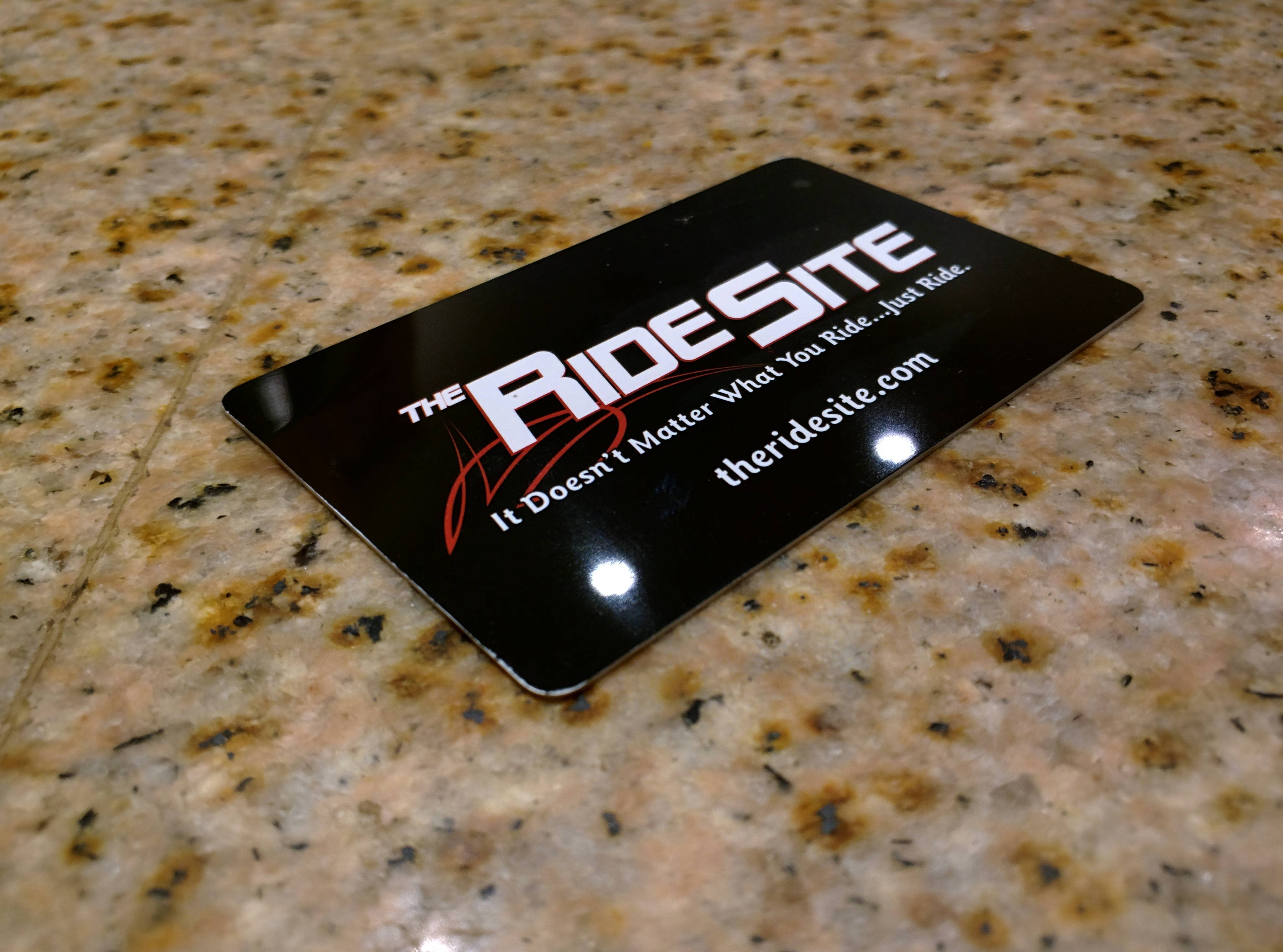 The Ride Site Plastic Membership Cards