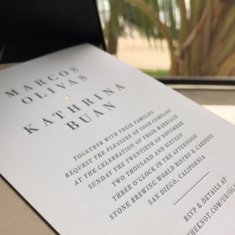 Marcos & Kathrina Wedding Invite